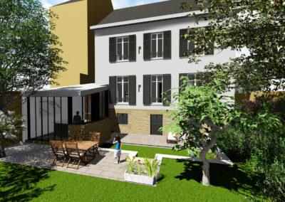 Extension sur jardin
