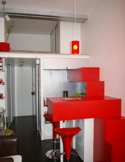 Mobilier sur mesure : escalier / bar / cuisine / rangement