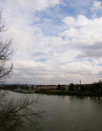 Vue depuis les bords de la Seine