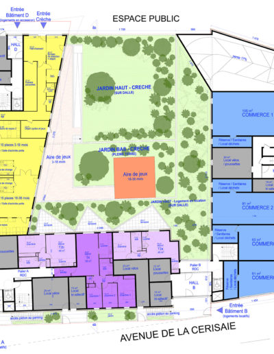 Plan RDC : Crèche, commerces et espaces communs
